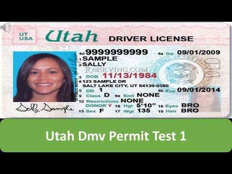 Utah DMV Permit Test 1