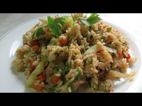 Vegetable Fried Rice, step by step Video Recipe II Real Nice Guyana (HD)