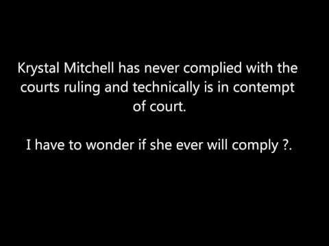 Krystal Renee Mitchell Divorce Decree (Part 1)