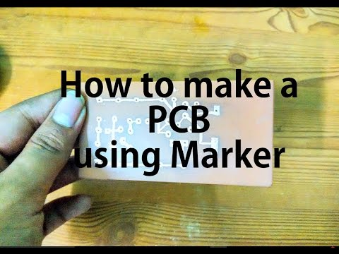 How to make a PCB using Marker