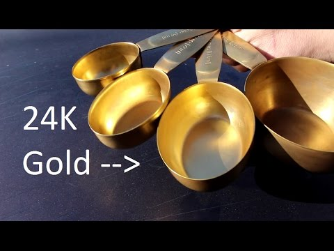 Gold Plating Measuring Cups For My Mom