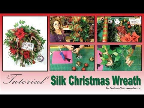 How to Make a Silk Flower Christmas Wreath SNEAK PEEK