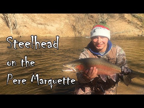 Fly Fishing Steelhead on the Pere Marquette 2017
