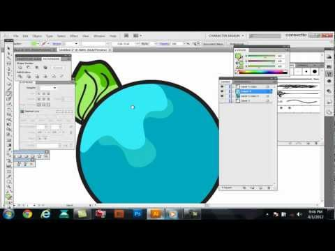 Tutorial-How to color,shade,color separate in Adobe Illustrator CS5 quick and dirty way.-Swiftyspade