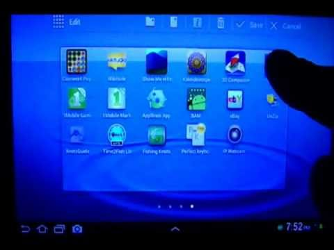How To Organize Android Apps Easily ( Android 4.0 Samsung Galaxy Tab 2 7