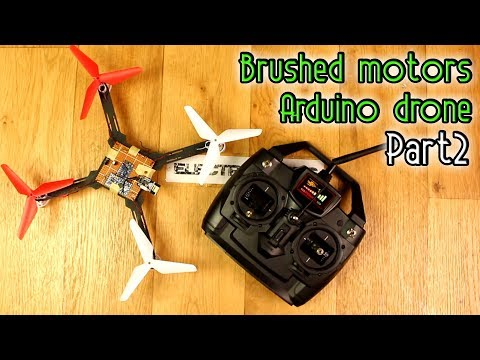 Brushed motors Arduino drone - Part2 - Prototype + NRF24 code