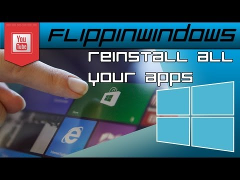 Windows 8 | Reinstall all your Windows APPS at once