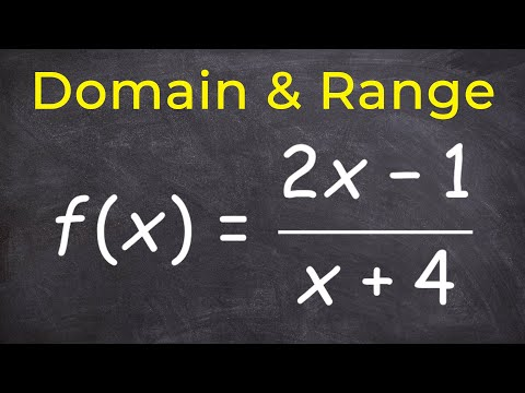How to find domain and range of a rational equation using inverse