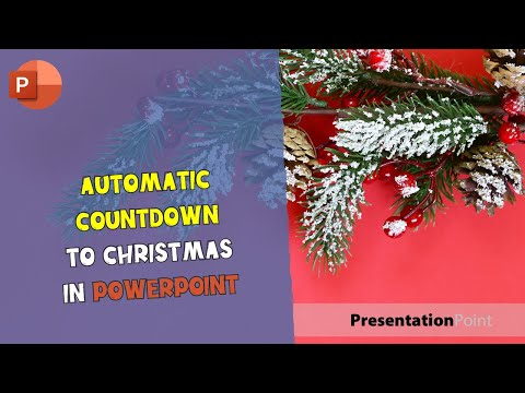 Automatic countdown to Christmas in PowerPoint