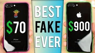 $70 Fake iPhone 7 Plus vs $900 iPhone 7 Plus in Jet Black!