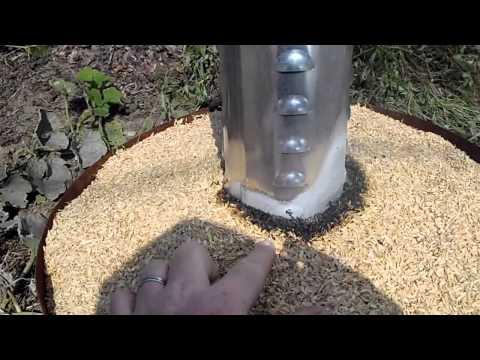 Making Rice Hull Charcoal