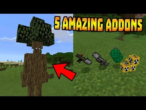 5 BEST ADDONS in MCPE 1.0!!! - Amazing Addons 1.0+ - Minecraft PE (Pocket Edition)