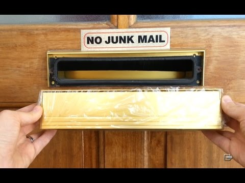 How to replace a letterbox