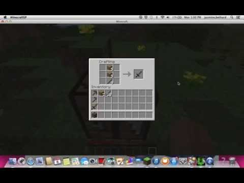 how to build wooden swords, pickaxe, and hoe on mine craft