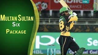 Multan Sultan Vs Peshawar Zalmi   All Sixes By Multan Sultan   PSL 2018