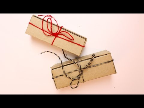 DIY Gift Box using RECYCLED boxes | Daily December DIY