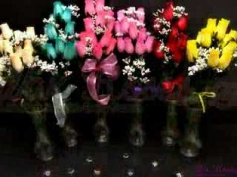 Valentines Day Wax Roses in 6 different colors. They never die and the scent lasts up to 6 months