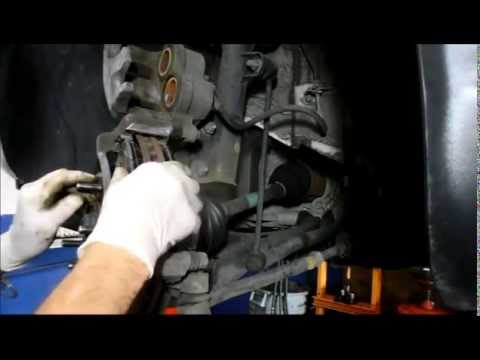 How to replace the front brakes on a Hyundai Santa Fee