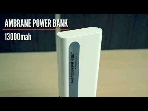 Ambrane p-1310 power bank | 13000mah