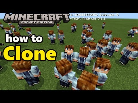 HOW TO CLONE YOURSELF | Minecraft PE 0.16.0 Add on Modification