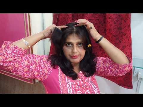 How to make hair style for college going girls,  simple and attractive  hair style seema jaitly