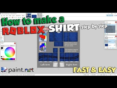 How to make a SHIRT on ROBLOX! Fast & Easy tutorial
