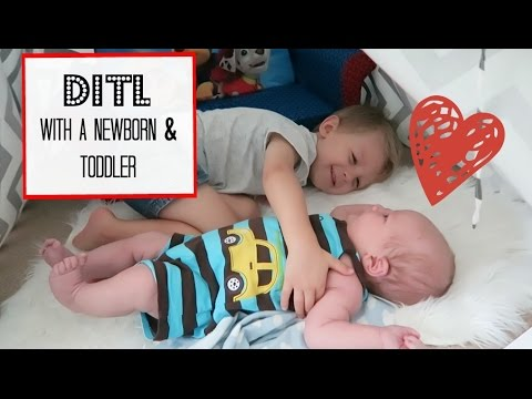 Day with a Newborn & Toddler | DITL