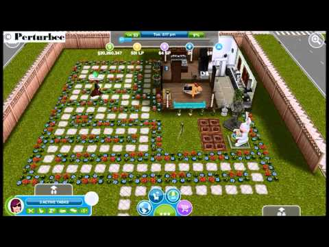 The Sims Freeplay: Flowers & Path (Maze 0)