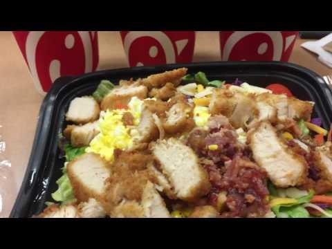 Chick-fil-A salad with apple cider vinegar!
