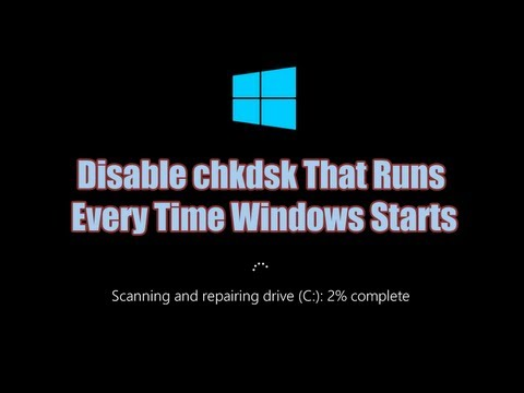 Disable Check Disk