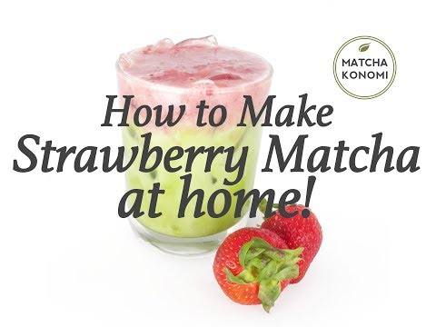 How to Make Strawberry Matcha Latte at Home!