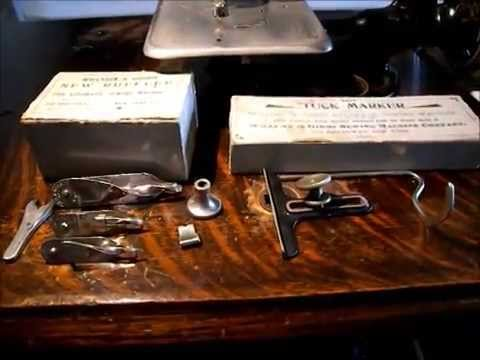 Part 1- Attachments Willcox & Gibbs Chain-Stitch Sewing Machine
