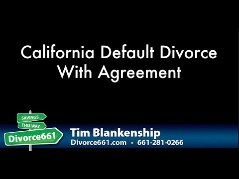California Default Divorce With Agreement | CA Divorce