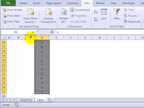 Select Short or Long Drop Down List in Excel