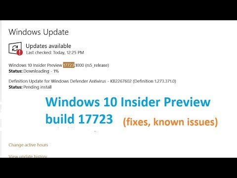 Windows 10 Insider Preview 17723.1000 rs5 release Updates are available