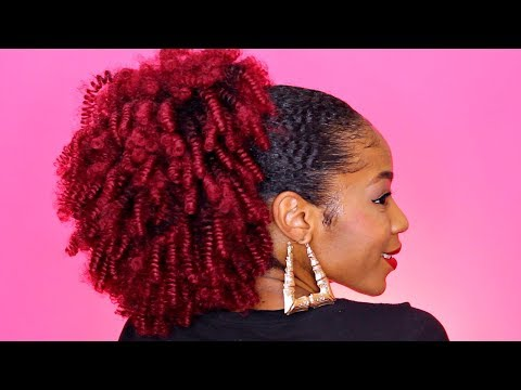 How To► Wig to Faux Ponytail Natural Hair Puff