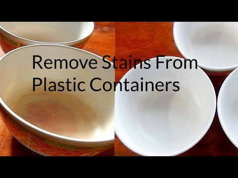 How to remove stains from plastic crockery