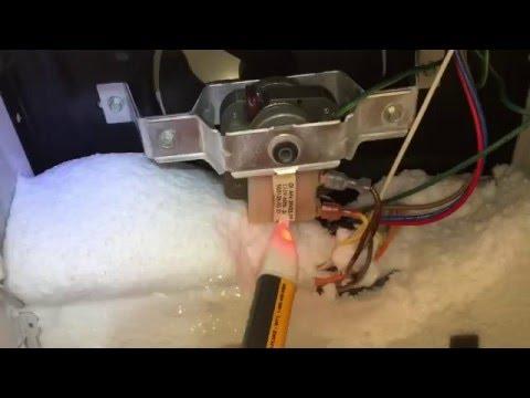 Warm Amana Refrigerator   No Defrost   Freezer Fan Not Running   Voltage Measurements