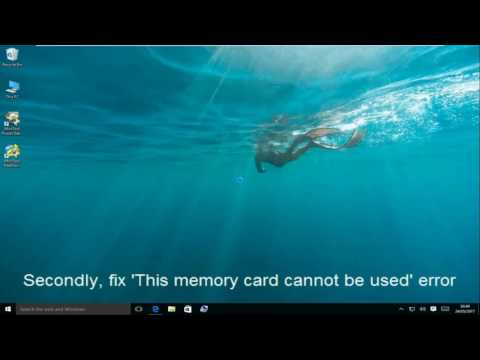 Solved - This Memory Card Cannot Be Used