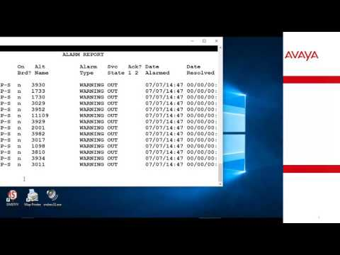 How to search and verify Alarms for Avaya Aura Communication Manager