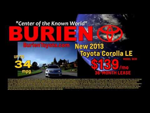 BurienToyota Corolla Lease, September 2013