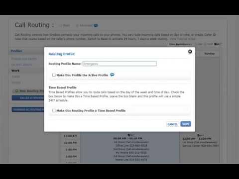 Create a Simple Profile for Call Forwarding