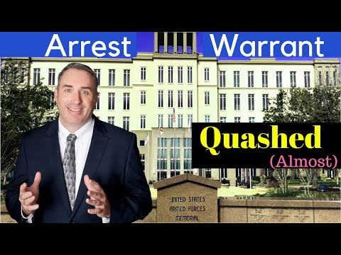 001: Getting an Arrest Warrant Quashed - Goes Sideways Orlando Criminal Defense Attorney Jeff Lotter
