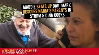 WEEKEND VLOG 2020 #8 Maddie BEATS up DAD, Mark RESCUES Nadia's PARENTS in STORM & DINA COOKS