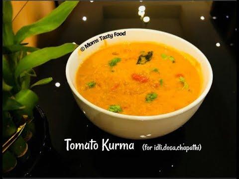 Tomato Kurma-Thakkali Kurma - Side Dish For Idli/Dosa/Appam/Idiyappam/Chapathi/Roti/Poori - Curries