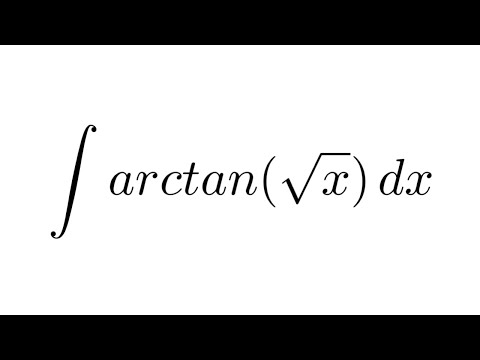 Integral of arctan(sqrt(x)) (substitution + by parts)