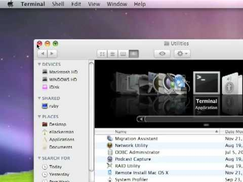Widgets on Mac OSX desktop