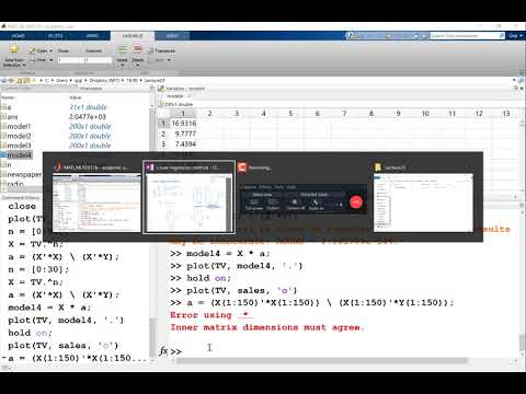 Implementing the Linear Regression in MATLAB Part 2
