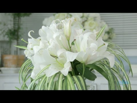 How to make a Simple Lily Bouquet Floristry Tutorial