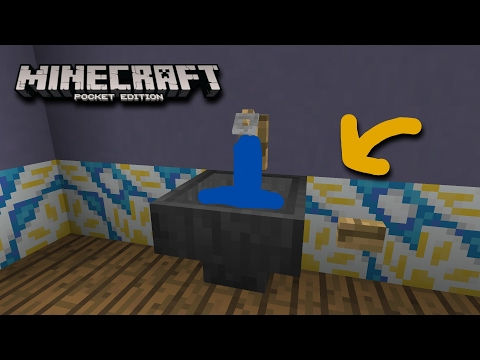 How to make a Working Sink(Command Block)-Minecraft Pocket Edition